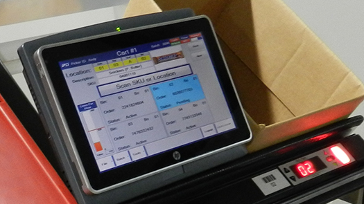 Put-to-Light Cart Touchscreen Tablet